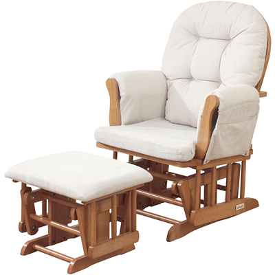 Natural Wood Comfortable Contemporary Nursing Chair With