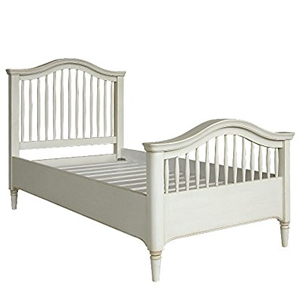 Classic White Painted Oak Etienne Shabby Chi Single Bed Country