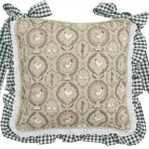Charmant Rooster U0026 Chicken With Gingham Chair Cushion / Seat Pad By Clare U0026 Eef